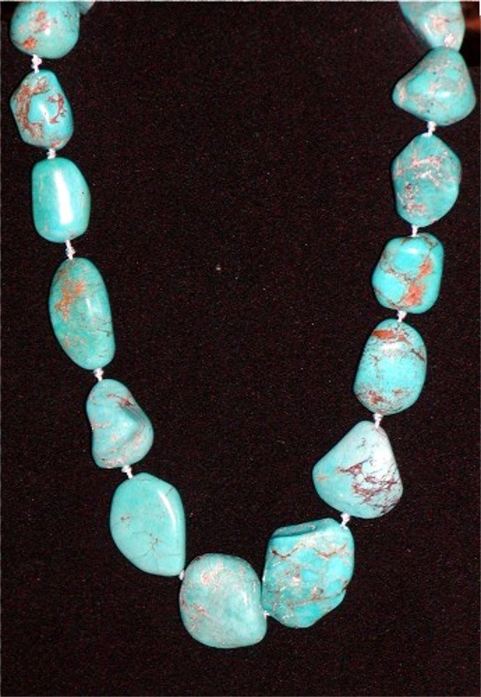 beauty desiree jewellery artist navajo yellowhorse turquoise sleeping strand five by product necklace jewelry