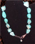 Vintage Turquoise Necklace, Genuine Turquoise Nugget Necklace