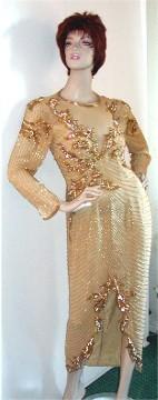 AJ Bari Vintage Evening Gown