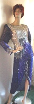 Cobalt Vintage Evening Gown