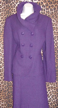 Purple Tahari Skirt Suit
