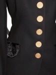 Black Vintage Blazer By Moschery, Detail