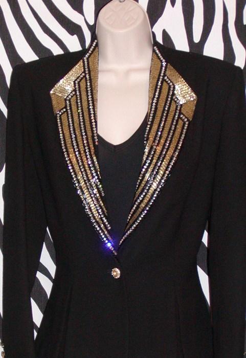 vintage blazer by nolan miller dynasty collection size 6