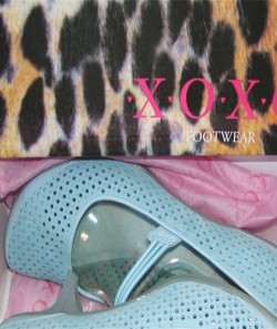 Vintage Powder Blue Mary Janes Kitten Heel