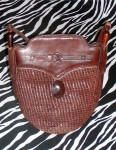 Artsy Brown Vintage Leather Messenger Bag Shoulder Bag