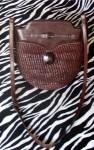 Artsy Brown Vintage Leather Messenger Bag Shoulder Bag