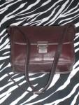 Brown Vintage Leather Tignanello Shoulder Bag