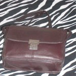 Brown Vintage Leather Tignanello Shoulder Bag