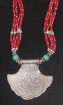 Vintage Nepalese Necklace, Reverse