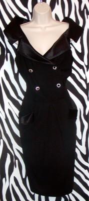 Vintage AJ Bari Black Evening Dress