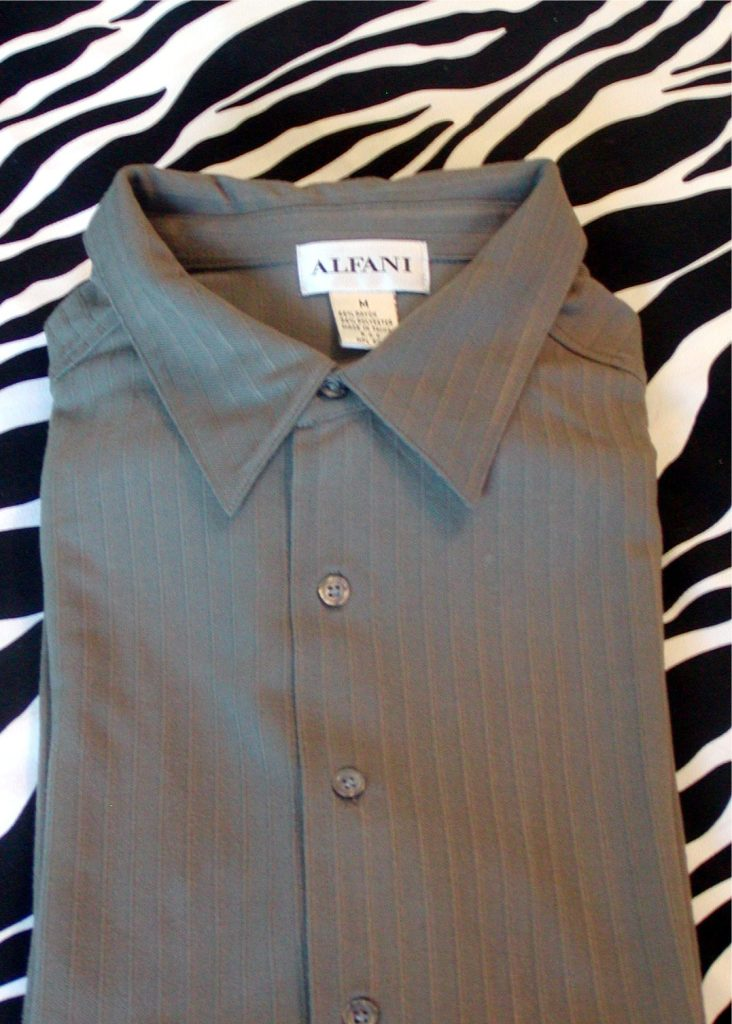 vintage alfani jersey shirt sleeves mens size m