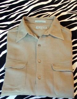 Vintage Alfani Woven Casual Shirt Mens Size XL