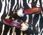 Black Suede Vintage Dress Sandals Made in Italy