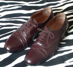 Vintage Burgundy Dress Shoes