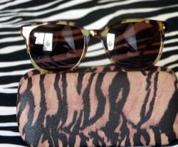 Vintage Giorgio Beverly Hills Wild Animal Print Sunglasses