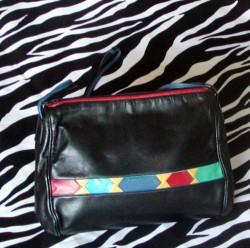 Vintage Sharif Leather Shoulder Bag Small