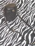 Vintage Valerie Stevens Black Leather Oval Tube Shoulder Bag