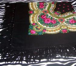 Vintage Polish Goralska Chusta Made Of Tybet