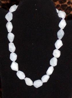 Estate Chalcedony String Necklace by Peyote Bird