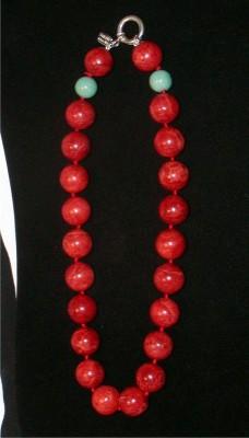 Estate Gemstone String Necklace Kalan .925 USA
