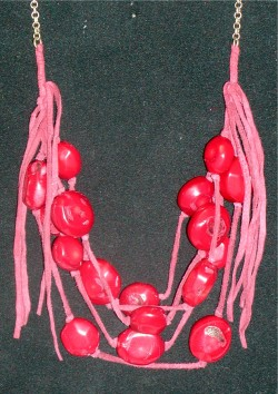 Estate Red Bohemian Necklace by Kenneth Cole