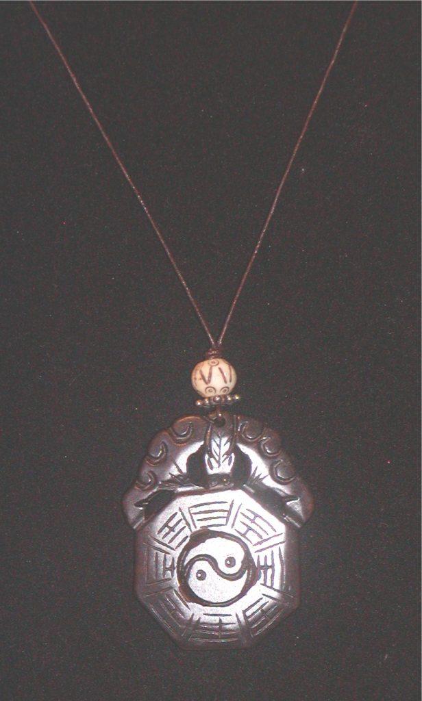 estate yin and yang pendant necklace 187 vintage designer