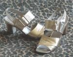 Retro Golden Sandals