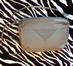 Pale Olive Green Vintage Crossbody Bag