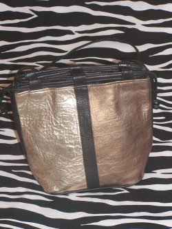 Small Vintage Metallic Bucket Bag