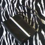 Vintage Assima Creations Black Leather Crossbody Clutch