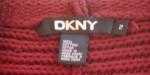 Vintage Burgundy DKNY Pullover Tunic
