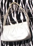 White Leather Small Giani Bernini Handbag