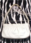 White Leather Small Giani Bernini Handbag