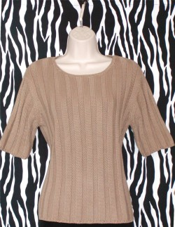 Vintage Camel Cable Knit Pullover