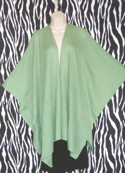 Vintage Celadon Green Cape Coat