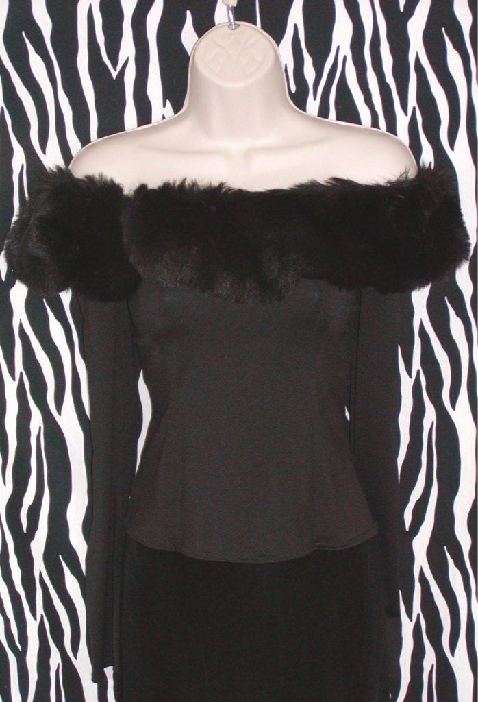 ebf3ba60628ae Vintage Bisou Bisou Black Off-The-Shoulder Top » Vintage Designer ...