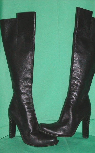Black Leather Jeans Mens