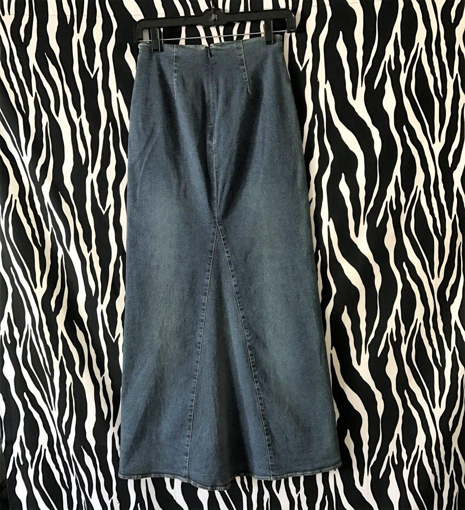 Designer Denim Maxi Skirts Goldin Ma,Custom Design Apparel